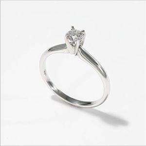 Simply elegant diamond solitaire engagement ring